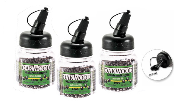 3 x Oakwood Carbonstaal in 4,5 mm 1000 stuks