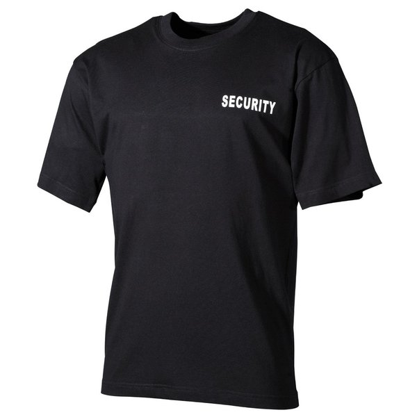"Zwart T-Shirt met""Security"" bedrukt"