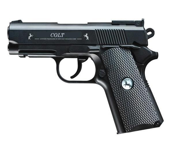 Airgun Pistool Colt kompleet Metaal CO² 4.5 mm