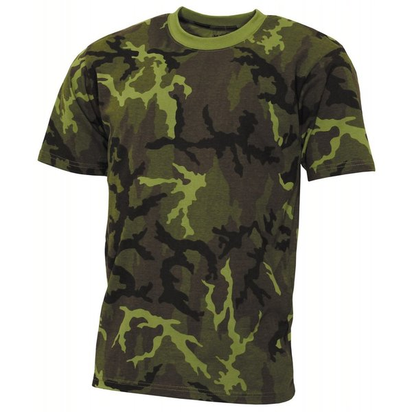 "Kinder T-Shirt, ""Basic"", M 95 CZ camo, 140-145 g/m²"