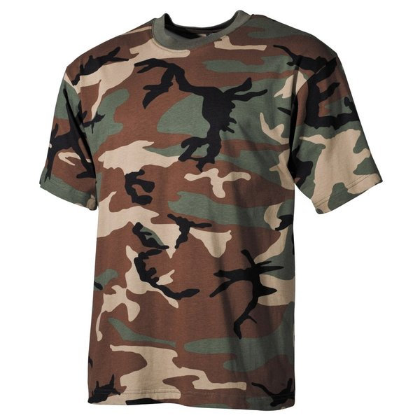 US T-Shirt, korte arm, woodland, 170 g/m²