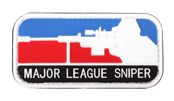 Patch / Embleem 3D PVC Sniper Major League