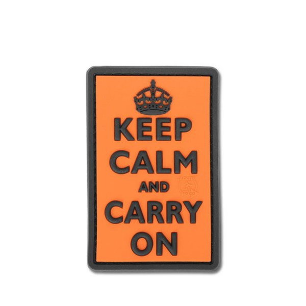 Patch / Embleem 3D PVC Keep Calm and Carry On