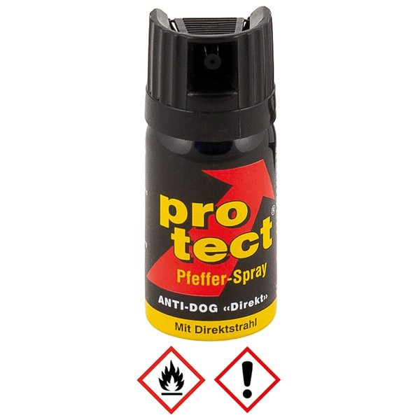 Peperspray Protect 40 ml Antidog met direktstraal
